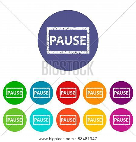 Pause flat icon