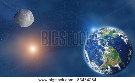 Meteor/Comet/Asteroid hitting the Planet