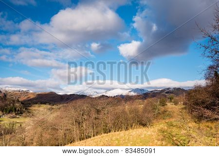 Snow Covered Loughrigg Fell