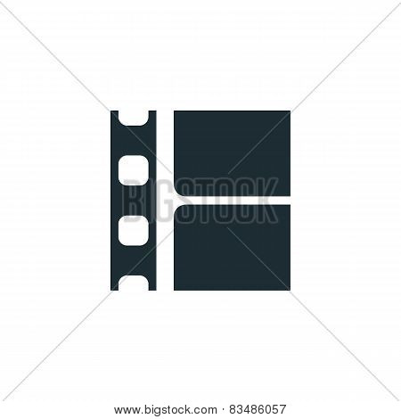 Film strip, simple conceptual logo.