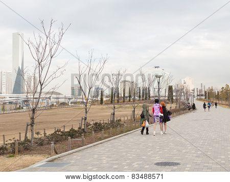 Pedestrian Zone In Tokyo