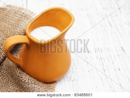 Milk In Pitcher