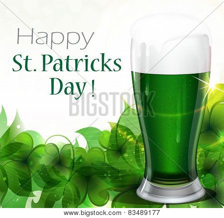Green Beer With Clover