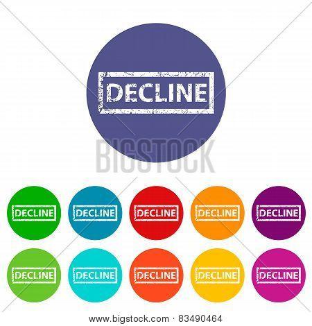 Decline flat icon