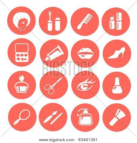 Makeup icons set