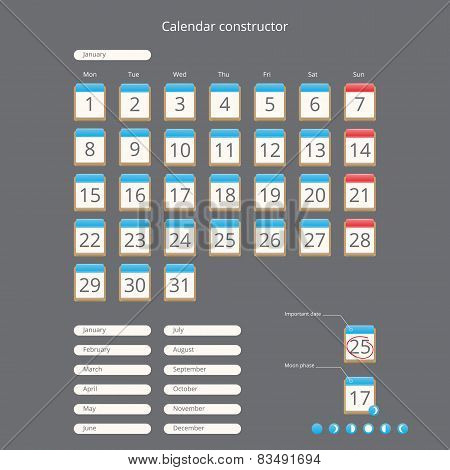 calendar constructor