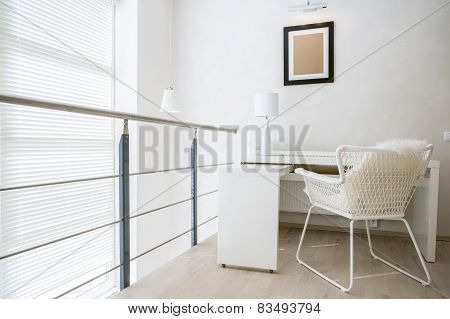 Working Area In Apartment