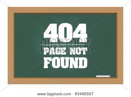 404 Error Message On Chalkboard