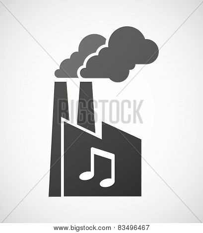Industrial Factory Icon With A Music Note