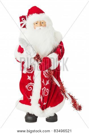 Santa Claus Toy Isolated On The White Background