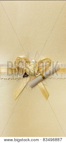 Golden Bow With Scrolls