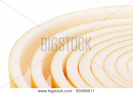 Roll Foam Isolated On The White Background