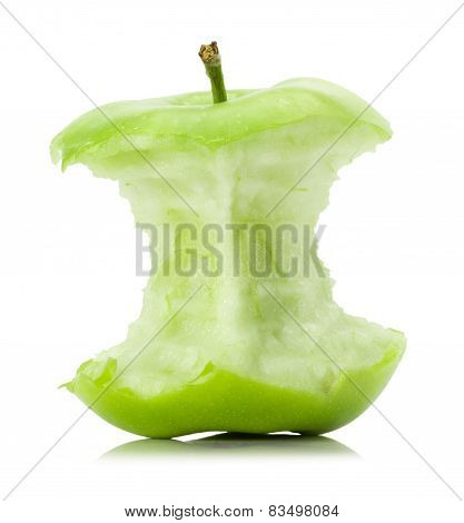 Apple Stub Isolated On The White Background