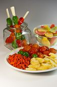 image of fruit platter  - Assorted various exotic dried fruits on a plate - JPG