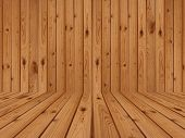 stock photo of monocots  - brown wood flooring and wall design art - JPG