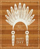 picture of apache  - Design elements of Thanksgiving day - JPG