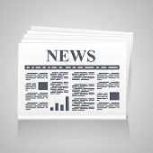 picture of newspaper  - Newspaper icon - JPG