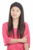 stock photo of hot pants  - A young asian girl - JPG