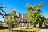 image of palace  - Palace of the Duques of Braganza a medieval palace and museum in Guimaraes Portugal - JPG