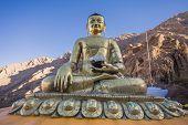 pic of buddha  - Buddha statue at Hemis Monastery Leh Ladakh India - JPG