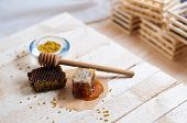 picture of honeycomb  - Fresh honey - JPG