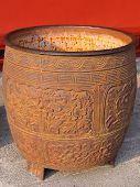 stock photo of qin dynasty  - Ruins of Qin Dynasty in a museum - JPG