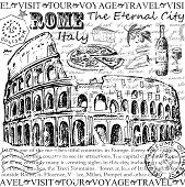 picture of sketche  - rome italy - JPG