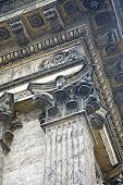 picture of pilaster  - Fragment of column of the Kazan cathedral is in city Saint - JPG