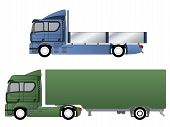 foto of 18 wheeler  - Double cab trucks with single axles and various chassis - JPG