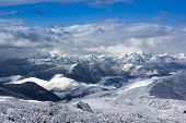 foto of arctic landscape  - mountain snow landscape view nature around the way to Huanglong - JPG