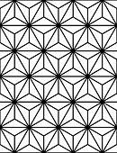 stock photo of hexagon pattern  - A Seamless Hexagonal Pattern - JPG