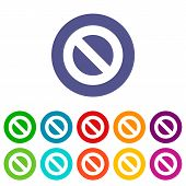 picture of bans  - Ban web flat icon in different colors - JPG