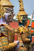 picture of guardian  - Demon Guardian in Wat Phra Kaew Grand Palace Bangkok - JPG