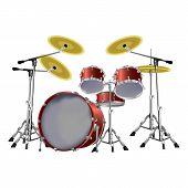 foto of drum-set  - vector illustration of a musical instrument drum set - JPG