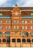 picture of old post office  - Details of the Central Post Office of Malmo in Sweden - JPG