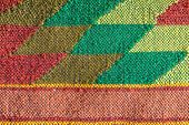 picture of loom  - Colored handmade fabric - JPG