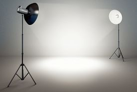 stock photo of studio  - high resolution 3d rendering of a studio background - JPG