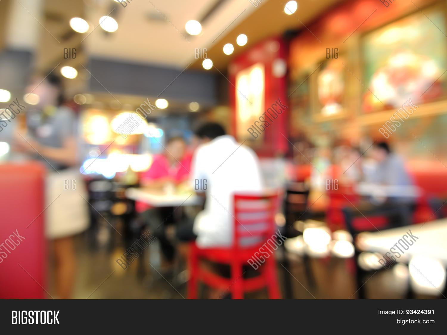 Restaurant Background With People Blur Or Defocus Background Of People Eating In Restaurant Stock