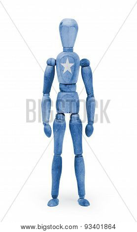 Wood Figure Mannequin With Flag Bodypaint - Somalia