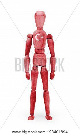 Wood Figure Mannequin With Flag Bodypaint - Turkey