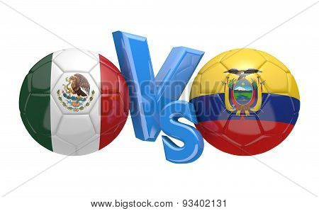 Copa America football competition, national teams Mexico vs Ecuador