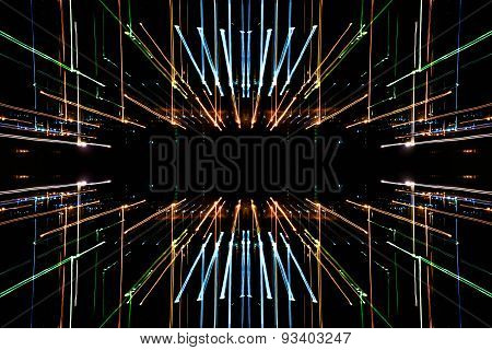 long exposure, abstract speed motion lines of light