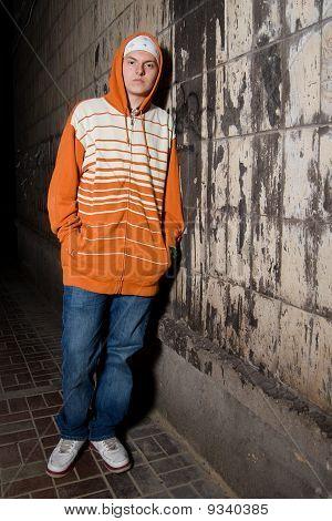 Young Drug Dealer On The Corner