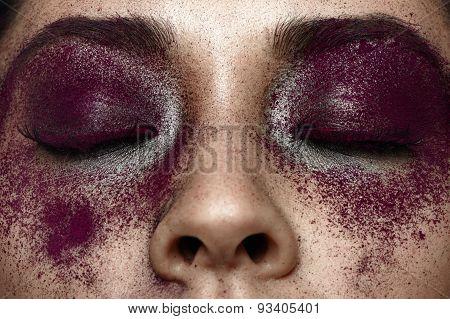 Beauty Macro Purple Makeup