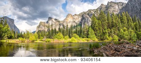 View At The Yosemite Valley