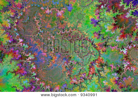 Colored Trodden Leaves