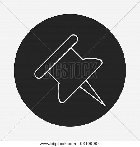 Push Pin Line Icon