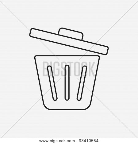 Garbage Can Line Icon