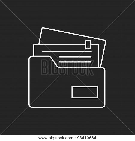 Office Files Line Icon