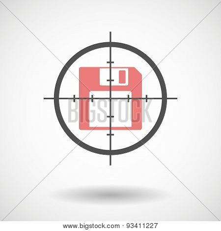 Crosshair Icon Targeting A Floppy